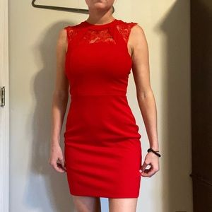 Lacy red dress